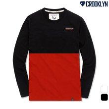 [크루클린] 배색 긴팔 티셔츠 TRL717