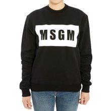 [엠에스지엠] 로고 2741MDM96 195799 99 여자 긴팔 기모 맨투맨 티셔츠