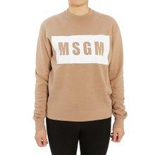 [엠에스지엠] 로고 2741MDM96 195799 23 여자 긴팔 기모 맨투맨 티셔츠