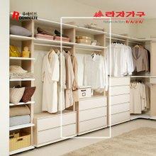 [라자가구]룸메이트 오픈드레스 800 3단서랍형옷장