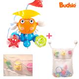[버드시아] 꽃게 목욕장난감+욕실그물망(화이트)