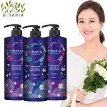 ★마스크팩x5입 증정★키라니아 약산성 큐티클케어 천연유래샴푸 벚꽃오리지널1000mlx3