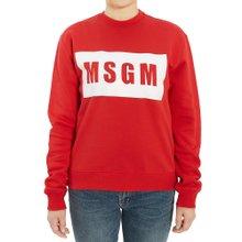 [엠에스지엠] 로고 2741MDM96 195799 18 여자 긴팔 기모 맨투맨 티셔츠