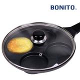 보니또(BONITO) IH 주물 4구 에그팬(26cm) +유리뚜껑