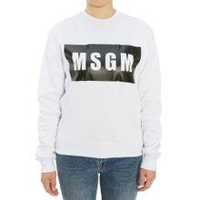 [엠에스지엠] 로고 2741MDM96 195799 01 여자 긴팔 기모 맨투맨 티셔츠