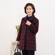 마담4060 엄마옷 아리랑체크울코트-ZCO911038-