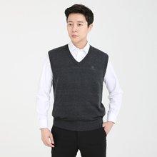 [파파브로]남성 국산 울 브이넥 가디건 폴라 니트 조끼 VIP-V9-차콜