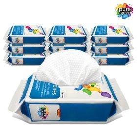 퓨어원스 하루 한장씩 쏙! 간편한 위생살균 청소물티슈  주방80매x10팩/거실80매x8팩