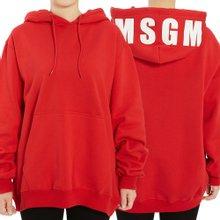 [엠에스지엠] 로고 2741MDM68 195799 18 여자 후드 긴팔 기모 맨투맨 티셔츠