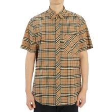 [버버리] 쇼트 슬리브 스몰 스케일 체크 스트레치 CANWELL 8017297 A7028 남자 셔츠