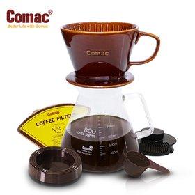 Comac 자기커피드립세트 800ml-DN6[커피필터/커피드리퍼/유리포트/핸드드립/드립커피/드립용품/커피용품]