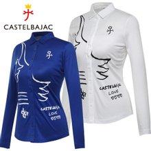 [까스텔바작] 소프트터치 여성 풀오픈 셔츠형 긴팔 티셔츠/골프웨어_BG7STS504