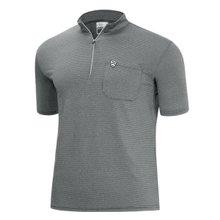 [파파브로]남성 여름 등산복 스판 반집업 반팔 티셔츠 MB-H9-MCC-CH-그레이