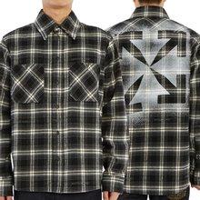 [오프화이트] 스텐실 플란넬 체크 OMGA133E 20FAB001 1010 남자 셔츠