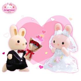 [콩지래빗] 콩지래빗 웨딩 / 커플인형 토끼인형 웨딩인형