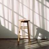 [Livingsoop(리빙숲)]리빙숲 원목 원형 바스툴 높은 의자