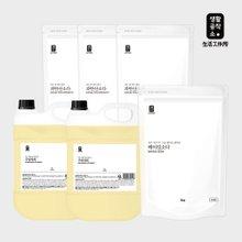 [생활공작소] 주방세제 4L x 2개 쌀뜨물향+ 베이킹소다 3kg 1개 + 과탄산소다 1.5kg x 3개