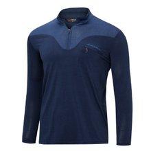[파파브로]남성 국산 아웃도어 등산복 스판 긴팔 티셔츠 LM-A9-211-1-네이비