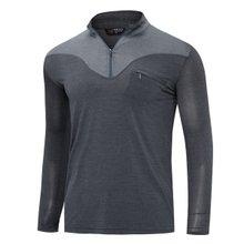 [파파브로]남성 국산 아웃도어 등산복 스판 긴팔 티셔츠 LM-A9-211-2-그레이