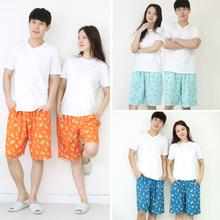 시원한 여름 커플 잠옷바지 레이온 파자마 2종