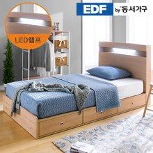 EDFby동서가구 루젠 LED조명 깊은서랍 슈퍼싱글 침대 프레임 DF636046