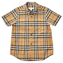 [버버리키즈] 빈티지 체크 FRED 8002633 A2442 키즈 반팔 셔츠 (성인착용가능)
