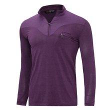 [파파브로]남성 국산 아웃도어 등산복 스판 긴팔 티셔츠 LM-A9-211-3-퍼플
