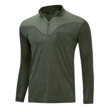 [파파브로]남성 국산 아웃도어 등산복 스판 긴팔 티셔츠 LM-A9-211-5-카키