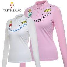 [까스텔바작] 나일론스판 메쉬 소매 여성 카라넥 썸머 긴팔티셔츠/골프웨어_BG8MTS707