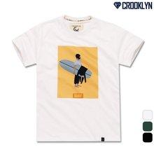 [크루클린] TRS-041 서퍼 전사 나염 반팔 티셔츠