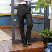 [파파브로]남성 클래식 원턱 양복 수트 정장바지 LO-A9-80-블랙