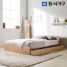 EDFby동서가구 루젠 깊은서랍 퀸 침대 (독립스프링) DF636028