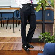 [파파브로]남성 클래식 원턱 양복 수트 정장바지 LO-A9-81-네이비
