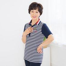 마담4060 엄마옷 왕관줄무늬티셔츠-ZTE005001-