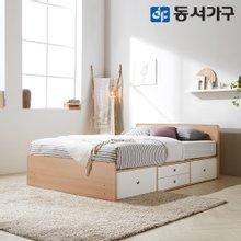 EDFby동서가구 루젠 깊은서랍2단 슈퍼싱글 침대(매트리스포함) DF636023