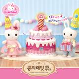 [콩지래빗] 콩지래빗 생일케이크 / 토끼인형+멜로디생일케이크