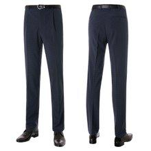 [파파브로]남성 원턱 클래식 체크 양복 정장바지 PO-A7-287-네이비