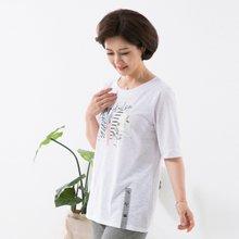 마담4060 엄마옷 즐거운여행티셔츠 QTE907004