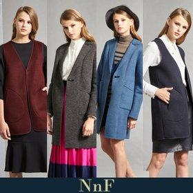NnF 여성 더블페이스 쿠션자켓+베스트 2종