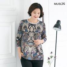 [엄마옷 모슬린] 튜닉 라운드 티셔츠 TS002225