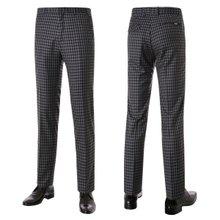 [파파브로]남성 노턱 체크 스판 양복 정장바지 PO-A7-580-그레이