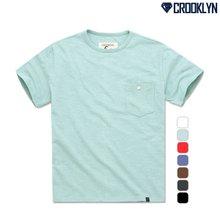 [크루클린] TRS-010 슬라브 포켓 반팔 티셔츠