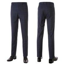 [파파브로]남성 노턱 체크 스판 양복 정장바지 PO-A7-581-네이비