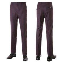 [파파브로]남성 노턱 체크 스판 양복 정장바지 PO-A7-582-레드