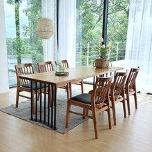우드인미 박달나무 6인 원목식탁 세트1800A-as_도토리/의자포함/6인용식탁/원목식탁테이블/카페테이블