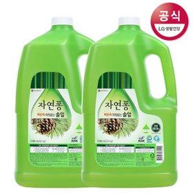 [자연퐁] 솔잎설거지 주방세제 3.1kg x2개