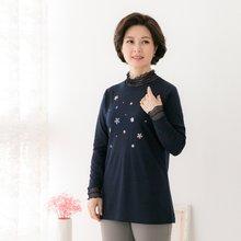 마담4060 엄마옷 꽃잎으로티셔츠 QTE902048