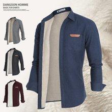 [단군] 양털솔리드포켓셔츠