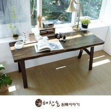 해찬솔 통원목 에코 원목책상 1800_엔틱/브라운다리/원목테이블/우드슬랩/카페테이블
