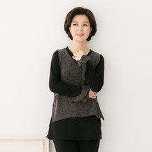마담4060 엄마옷 다중성있는조끼세트 QSET902007